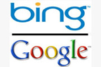 search engines bing and google