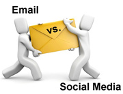 email and social medi